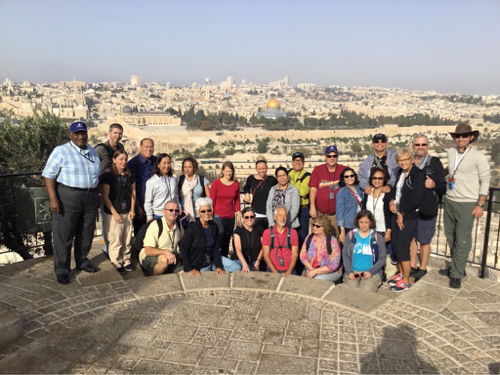 Israeli Advocacy Tour 2017 at Mt of Olives