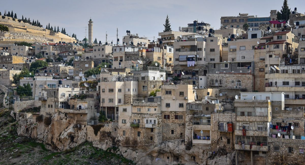 View of East Jerusalem from City of David - Old City of Jerusalem Israel