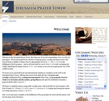Jerusalem Prayer Tower Israel