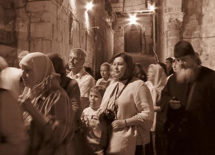 Jews and Christians in Old City Jerusalem